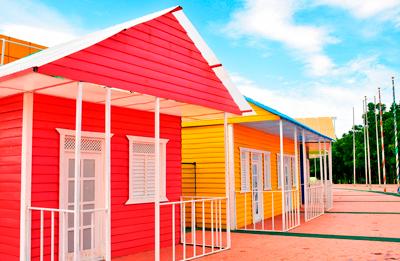 Casas tras pintar el exterior
